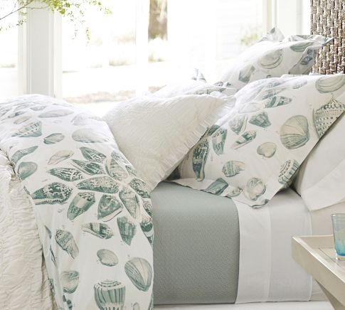 hmmmmmBeds Covers, Shells Organic, Freeport Shells, Guest Bedrooms, Duvet Covers, Beach House Decor, Master Bedrooms, Organic Duvet, Pottery Barns