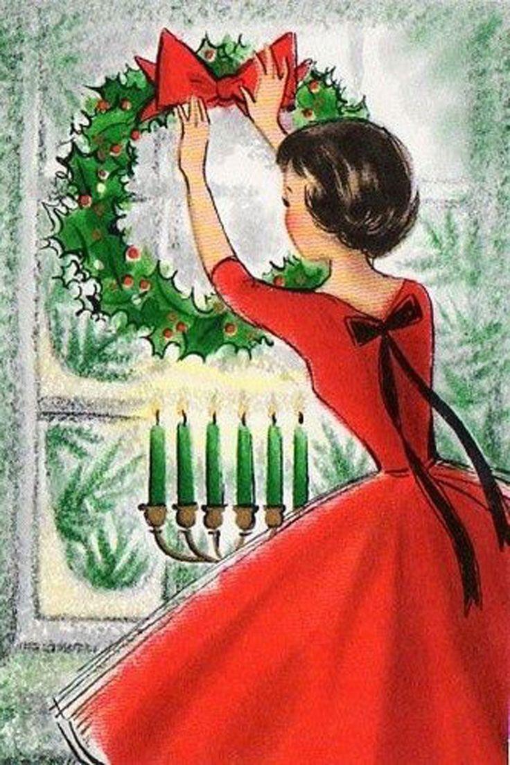 Vintage Christmas card www.ricopiel.myrandf.com www.ricopiel.myrandf.biz