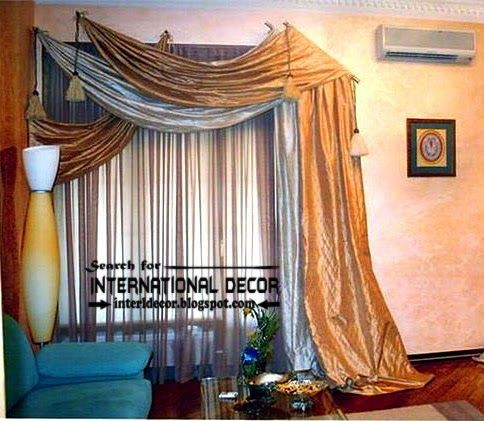 New Scarf Curtain Designs, Scarf Curtains Ideas, Living Room Curtains Part 65