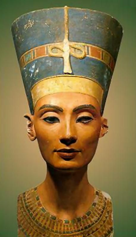 1. Tutmose, Nefertiti, was created during the 3. Ancient Egyptian art historical period around 1353-1336 BCE. 4. It is made of Painted limestone. 5. It was originally located in Akhetaten but is now located in Staatliche Museen zu Berlin, Preussischer Kulturbesitz, Agyptisches Museum. It is believed Tutmose created this as a finished model to follow a carving or paintings for his royal patron.
