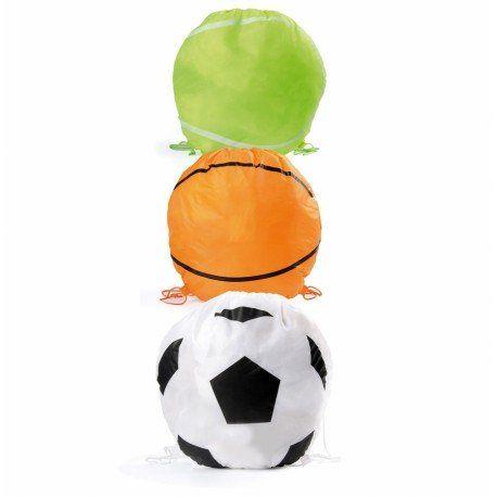 Regalos para niños: mochila plegable con forma de balón de fútbol, de baloncesto o de pelota de tenis. #cumpleaños #regalosbaratoscumpleaños #regalos #regalosinfantilesparaelcolegio #niños #futbol #balon #detallesniñosboda #chuches #detallescumpleañosinfantil #regalosinfantilesboda #regalosparalosniñoscomunion #regalosinfantilesbautizo #regalosparainvitadosdecomunion #mochilas #bolsasparacolorear