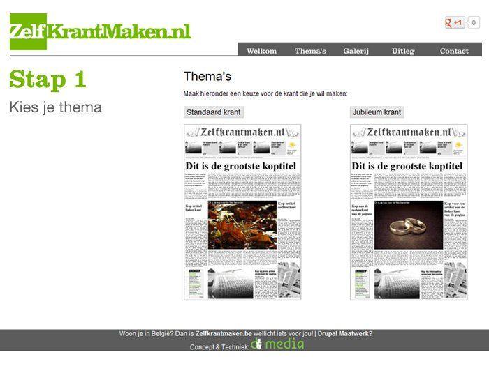 ZelfKrantMaken.nl | Eenvoudig zelf krant maken. Gratis en online.