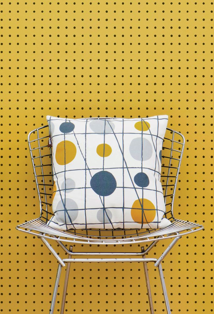 Mini Moderns 'Peggy' wallpaper in Mustard colourway minimoderns.com