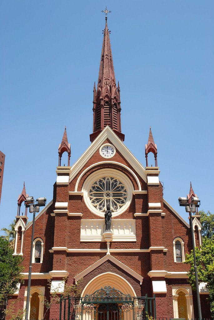 Gothic style Iglesia San Francisco de Borja on calle Carabineros de Chile #160, Santiago, Chile.