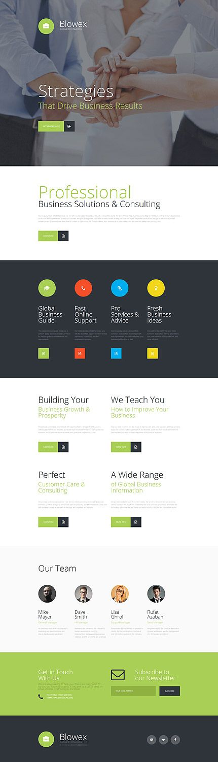 43 best business website templates images on pinterest business landing page template 14 webdesign template business responsive webdevelopment marketing cheaphphosting Images
