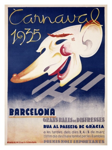 Carnaval Barcelona Giclee Print by Blay Augusto Oliva at AllPosters.com