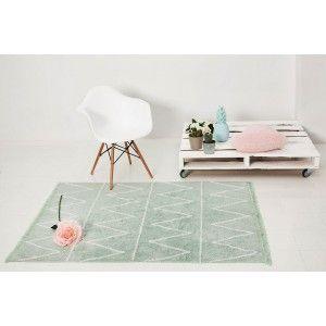 Tappeto lavabile Hippy Mint di Lorena Canals #lorenacanals #tappeti #cameretta