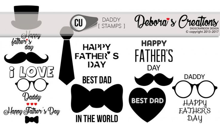 Daddy Stamps by Debora's Creations CU