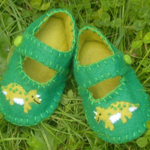 Dinosaur Felt Baby Shoes £12.49