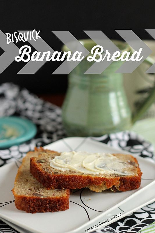 Bisquick Banana Bread: Homemade banana bread does not have to be a culinary challenge – use homemade Bisquick mix to pull this sweet and satisfying loaf together in no time!