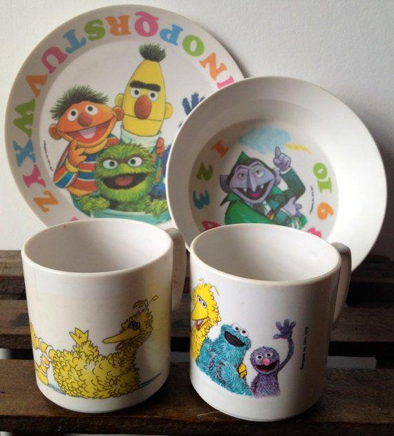 Vintage Sesame Street Melamine Dish Set & 13 best Sesame Street images on Pinterest | Sesame streets ...