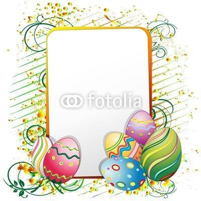 Easter Eggs Ornamental Poster-Vector © bluedarkat: Deco East Eggs, Eggs Ornaments, Easter Eggs