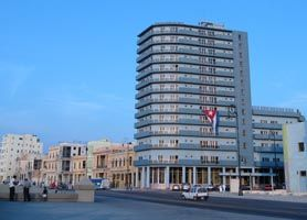 Hotel Deauville is located at the start of Old Havana right on the famous Malecon, Havana's sea wall with spectacular views over the Florida straits. In fact, many balconies have panoramic views of Havana, the sea, El Morro fortress and the entrance to Havana's Cruise port.