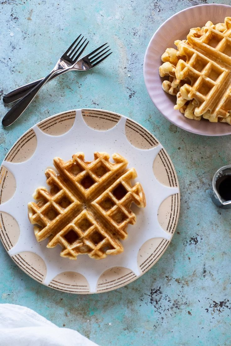 Who Wants Waffles These Buttermilk Waffles Come Together In About 5 Minutes And Then You Just Let Your Wa Buttermilk Waffles Waffles Perfect Breakfast Recipes