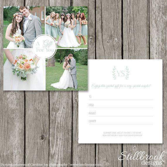 Photography Studio Gift Card Template Photographer Marketing