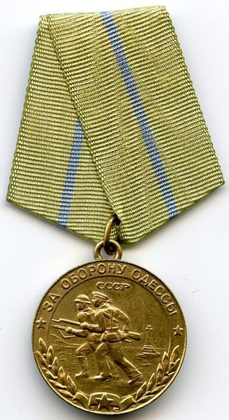 Russia World War II: Defence of Odessa Medal