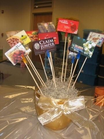 Creative Ways To Display Gift Cards Raffle Basket Gift