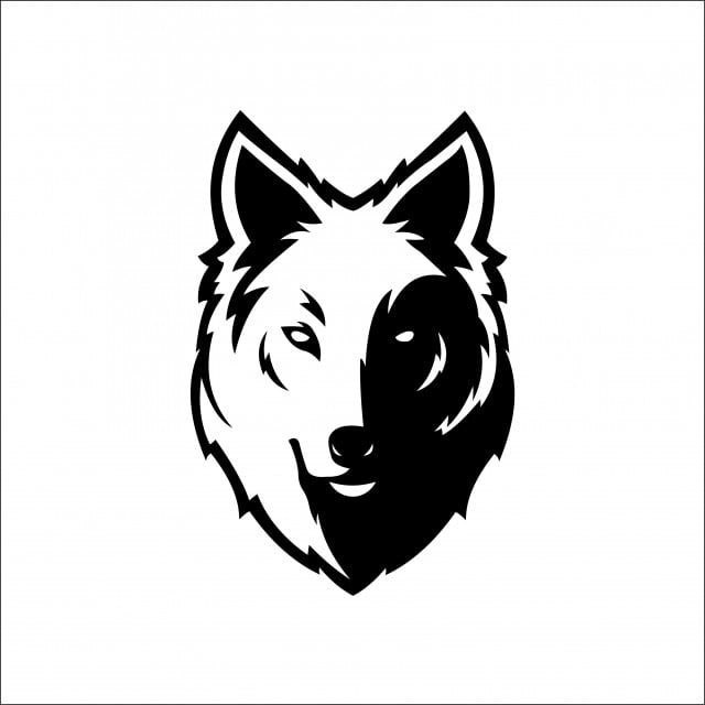 Wolf Icons Bolt Icons Mascot Head Silhouette Sport Logotype Template For Business Or T Shirt Design Vector Vector Wolf Emblem Wolf Face Drawing Wolf Silhouette