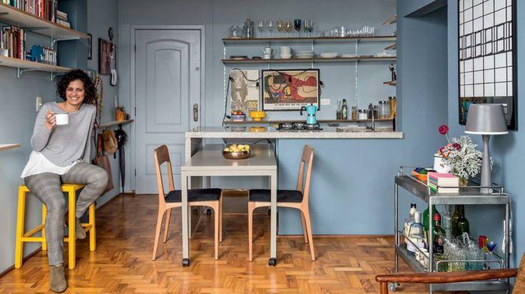 Quem vê esta decoração charmosa nem imagina que a arquiteta Ana Carolina gastou pouco mais de 23 mil reais para deixar em ordem seu primeiro apartamento