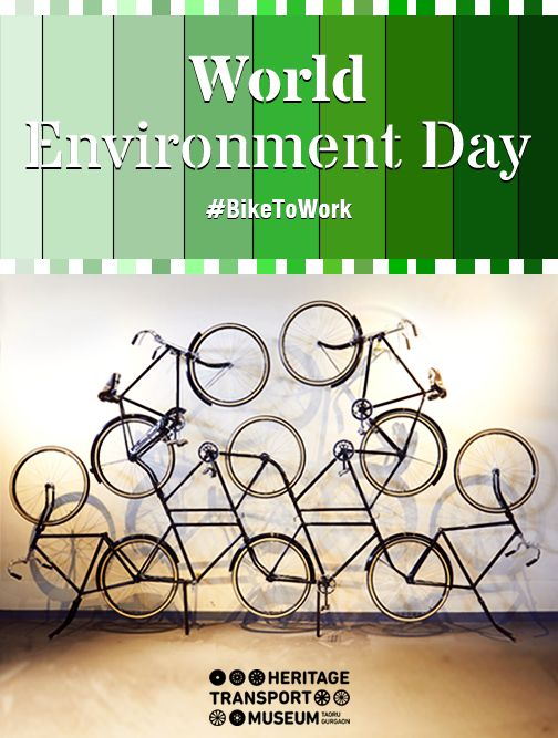 #‎BikeToWork‬ ‪#‎SaveEnvironment‬ #WorldEnvironmentDay  A Contemporary Bicycle Art displayed at the #museum!