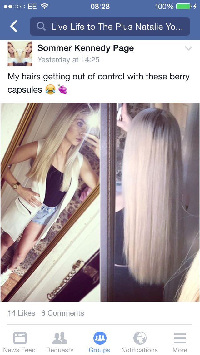 Gorgeous hair, thanks to the berry caps