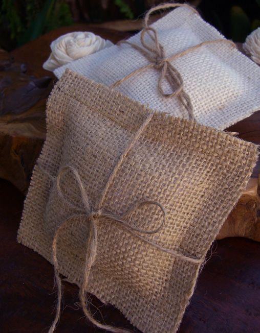 Natural Burlap Ring Bearer Pillow $9.99