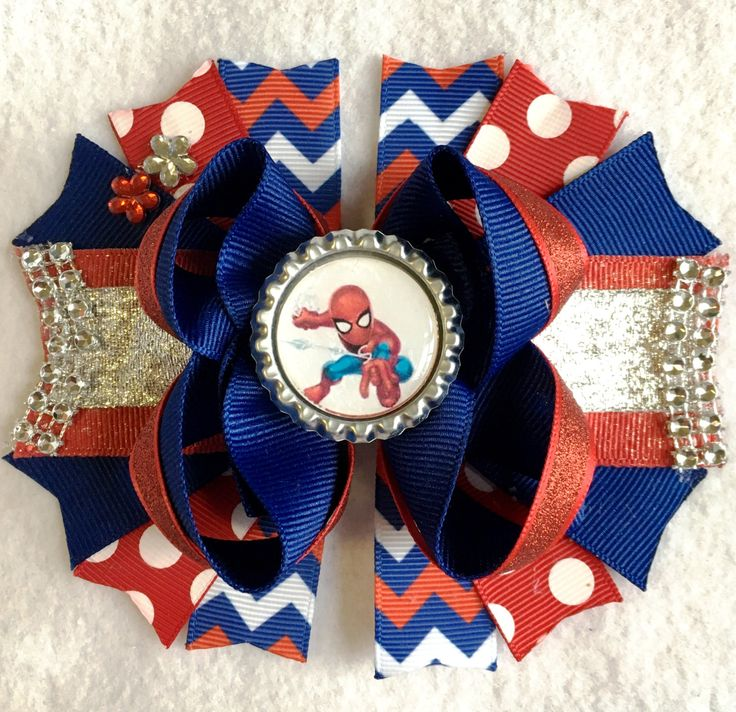 Spiderman girls hair bow/Superhero hair bow/Spidey girls hair bow/Spiderman bow/Girly Curl Bow/Spiderman Birthday Party girls hair bow by GirlyCurlBowtique on Etsy - Visit to grab an amazing super hero shirt now on sale!