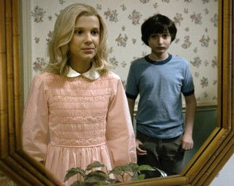 Eleven Dress /// Stranger Things // 11 // Halloween Costume /// Cosplay /// Pink White Peter Pan Smocked Baby Doll Dress