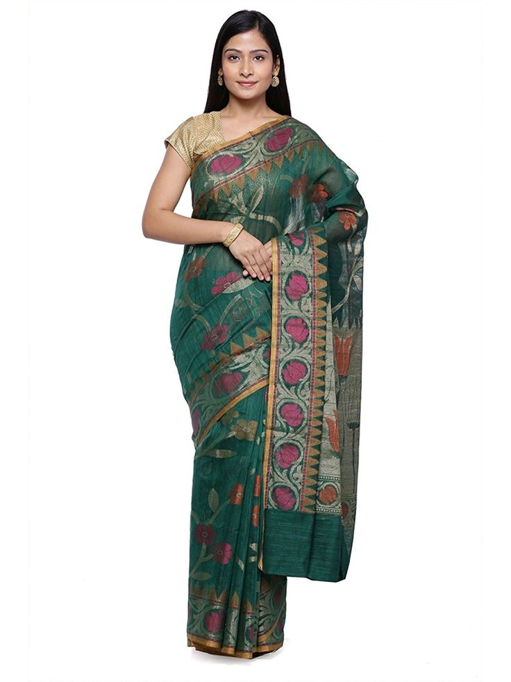 """Look Trendy By Wearing This Amazing Beautiful Saree From House Of """"Banarsi Silk Works"""". It Comes With A Unstitched Blouse Piece. Designed Using The Fabric, Along With Best #magnets ation Of #Colours, #Ensures That It Should Never Fail To Be The Perfect #Eye #Magnet.  BuyNow@ http://amzn.to/2z1YILZ"""