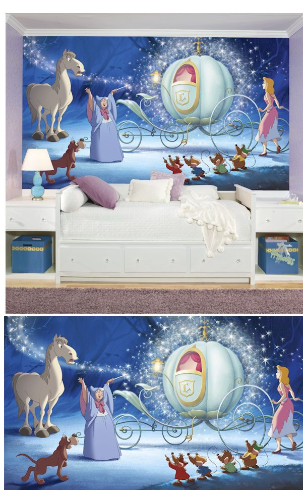 Disney Cinderella Carriage XL Wall Mural - Wall Sticker Outlet