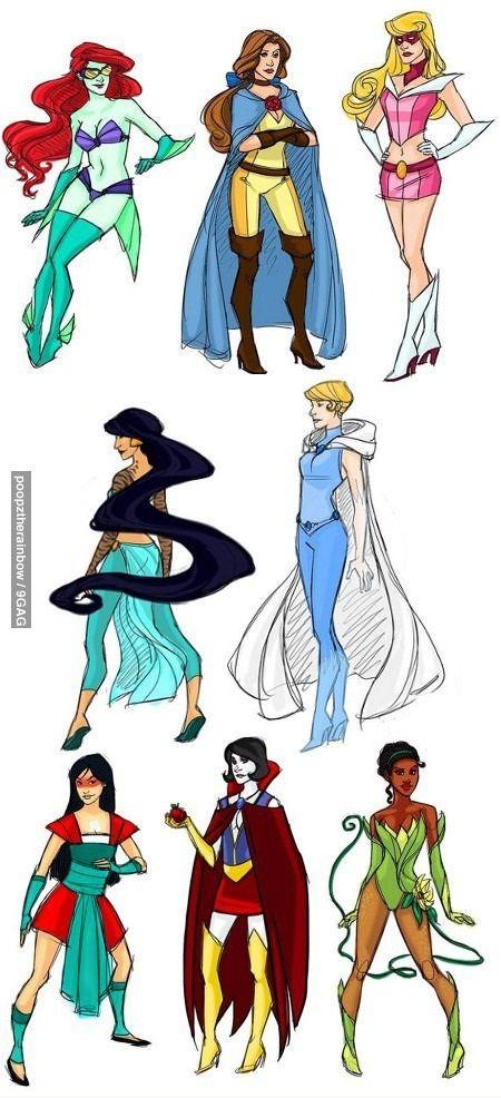 Guerrilha Nerd: Princesas da Disney em diferentes estilos [23 Fotos]