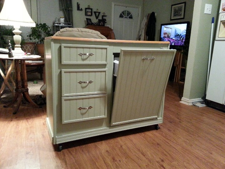 Kitchen Island Repurposed From A Desk For The Home