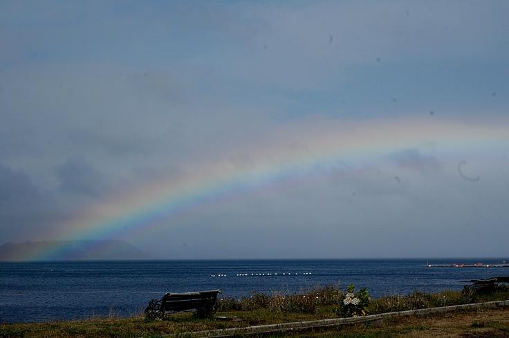 Arco iris. Tenaún, Chiloé.
