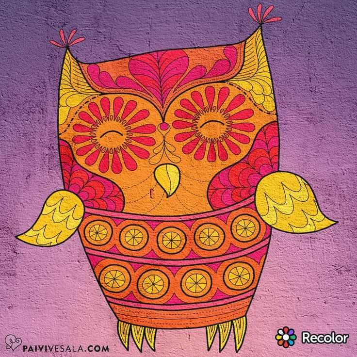 """Mental Images Coloring Books (@paivivesala_art) on Instagram: """"Are you in Recolor? My nickname is paivivesala ☺ Follow me if you want to see colored pictures from…"""""""