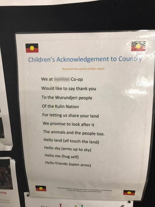 Preschool's 'Children's' Acknowledgement of Country