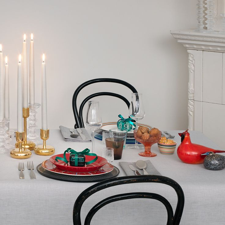 Set the table for Christmas. Designer's Christmas by Alfredo Häberli for Iittala. www.iittala.com/celebrations-for-generations