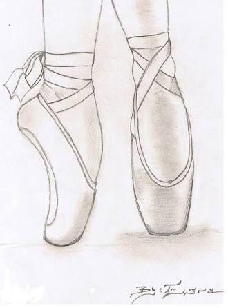 Resultado de imagen de drawings of ballerina shoes