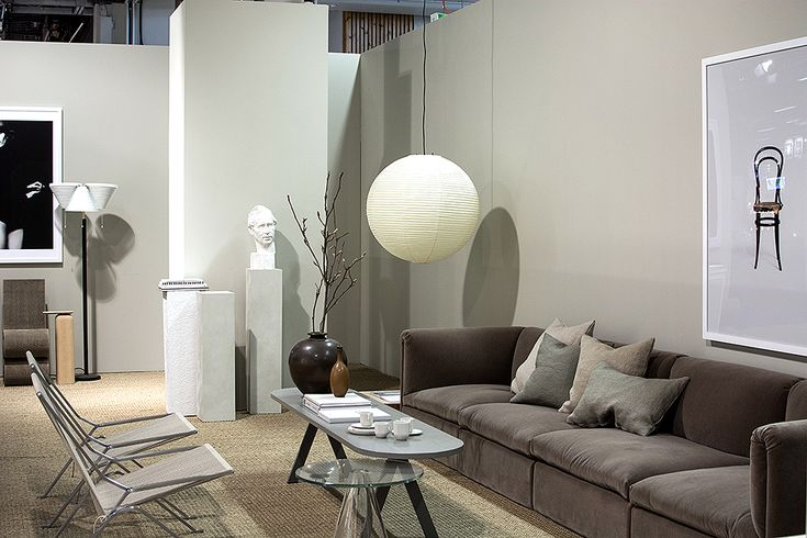 Stockholm Furniture Fair 2017, trend exhibition by Lotta Agaton. Scandinavian style livingroom in beige.   Trendutställning av Lotta Agaton.
