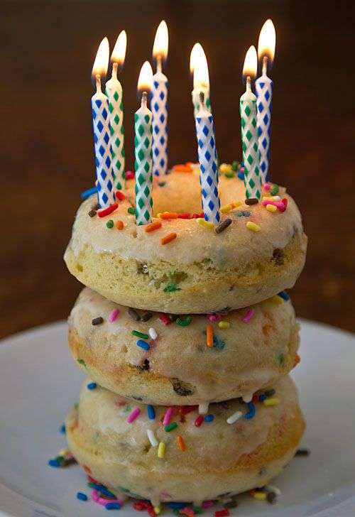 Confetti Cake Donuts, made w/ Greek yogurt!