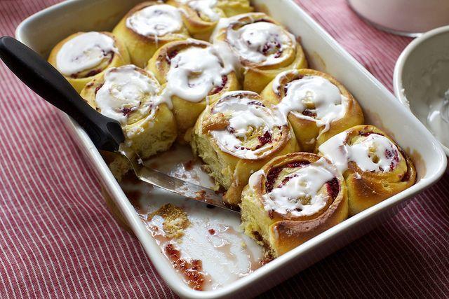cranberry-orange breakfast buns by smitten, via Flickr