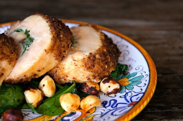 Smoky Hazelnut Crusted Chicken Roulade Recipe | cookingontheweekends.com
