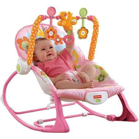 Baby Fisher-Price Infant-to-Toddler Rocker Sleeper Pink Bunny Pattern - Baby Swings