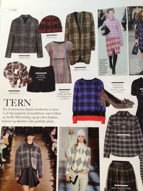 Danish Eurowoman (January 2014 issue) featuring our cool Kerry wool cardigan #objectfashion