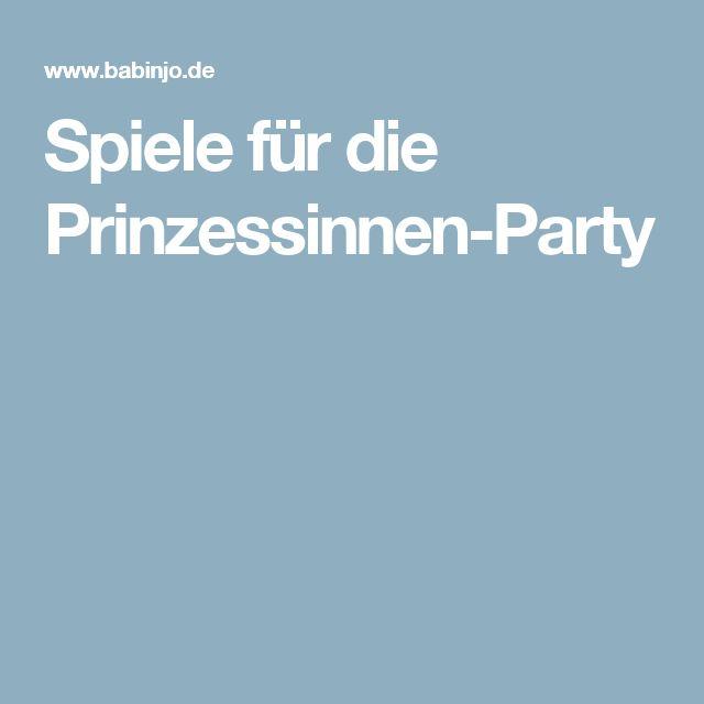 Spiele für die Prinzessinnen-Party