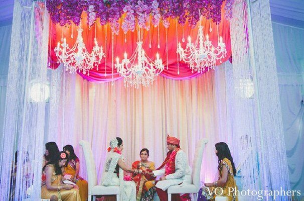 Amazing mandap background - multilevel color hot pink orange purple #mandap ceremony http://maharaniweddings.com/gallery/photo/14005