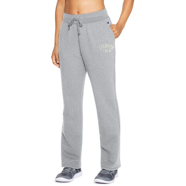Women's Champion Heritage Fleece Pant ($45) ❤ liked on Polyvore featuring activewear, activewear pants, dark grey, champion activewear and champion sportswear