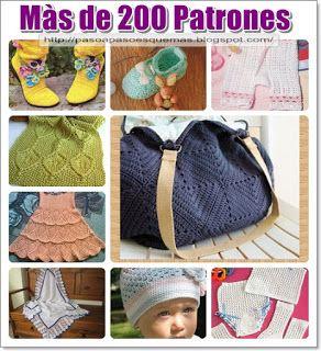 Mis Pasatiempos  Amo el Crochet: Màs de 200 patrones gratis ropa de bebè,niños y ad...