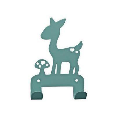 Kapstok hert blauw roze. Coat hanger deer blue kids room. #kidsdecor