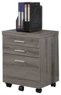 Monarch Specialties Monarch Specialties 3-Drawer Mobile File Cabinet - Filing Cabinets | Houzz