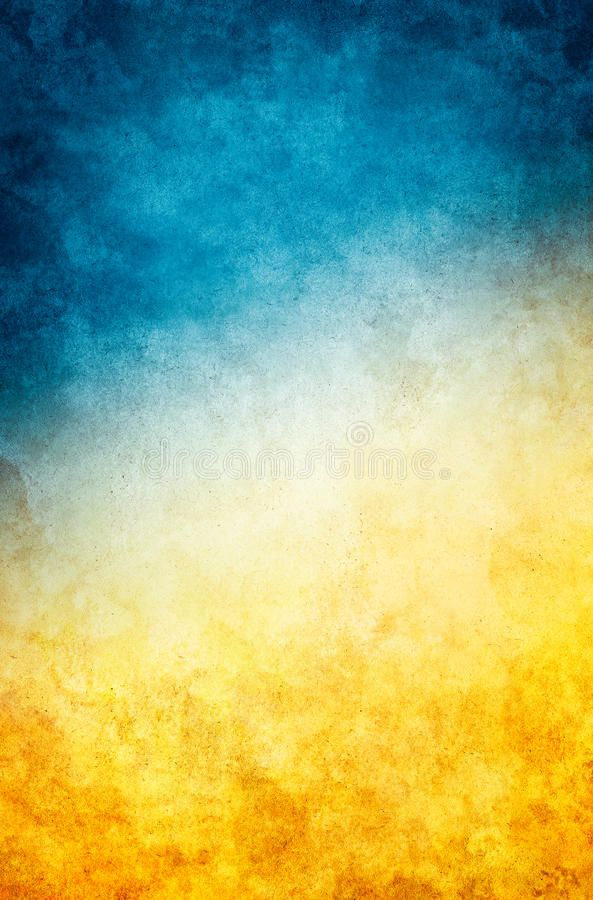 Yellow Blue Grunge A Textured Vintage Paper Background With A Dark Blue To Gold Sponso Vintage Paper Background Blue Texture Background Portrait Background